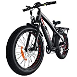Addmotor MOTAN E Bikes Mountain Fat Tire 26 Inch Power Electric Bikes Front Suspension Removable 48V 11.6AH Lithium Battery M-560 P7 Electric Bicycles for Adults+Fenders+Rear Rack