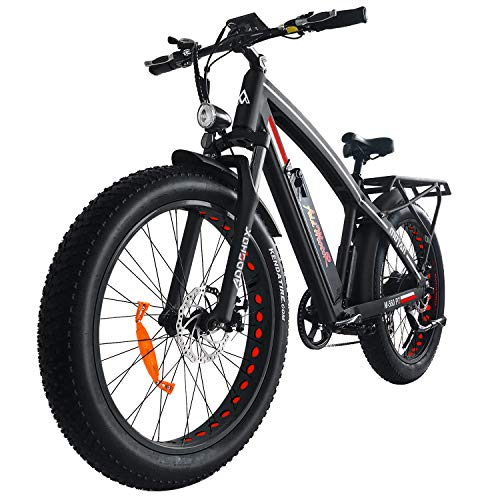 Addmotor MOTAN Electric Bicycles Mountain Fat Tires 26 Inch 750W Power Electric Bikes Removable 48V 11.6AH Lithium Battery M-560 P7 Ebikes for Adults (Black/Red)