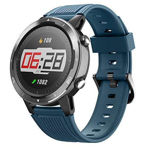 Letsfit Smart Watch, GPS Running Watch with Blood Oxygen Monitor, Fitness Tracker with Heart Rate Monitor, Swimming Tracking Smartwatch with Pedometer, Calorie Counter for Women Men (Renewed)