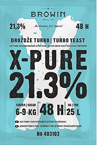 BIOWIN Turbohefe 48h X-Pure 21,3% 48h - 135g Gärhefe Hefe NEUHEIT !! Das Beste !!