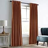 """IYUEGO Amber Gold Velvet Window Curtains for Bedroom,Blackout Velvet Curtain Thermal Insulated Back Top Window Curtain for Living Room (Set of one Panel, 52"""" Wx96 L)"""