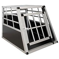 Sam's Pet Aluminium Dog Transport Box Maat M Zwart/Zilver | Alu Car Transport Box Kleine Honden | Hondenbox voor kofferbak*