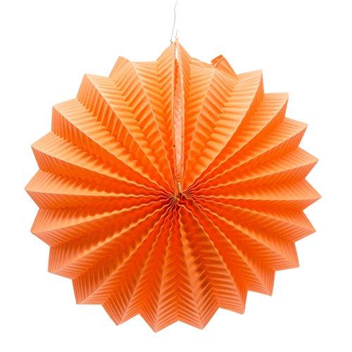 EuroFiestas Farolillo de Papel para decoración de Feria con Gancho Color Naranja