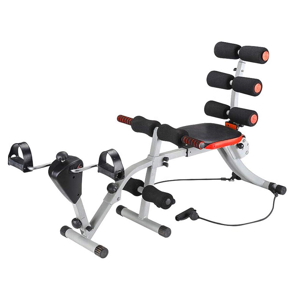 速い囲い試みるCHS@ シットアップボード多機能腹筋腹部ダンベルベンチシットアップホームフィットネス機器(アームプラーおよび乗馬ペダル機能付き)