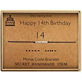 Happy Birthday Gifts for Girls Morse Code Bracelet Sterling Silver Bracelet Birthday Jewelry 14 Year Old Gifts for Her