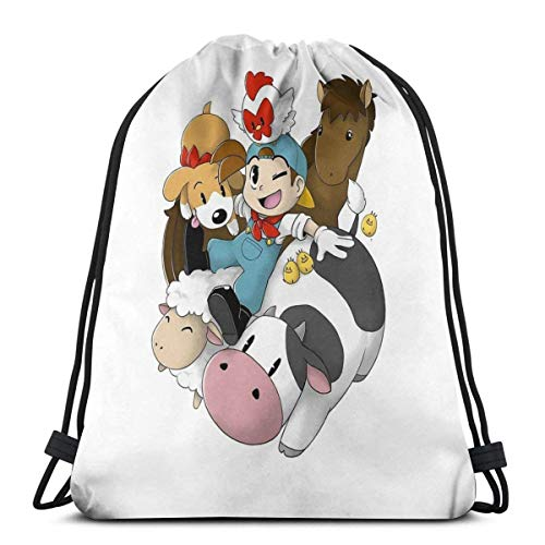 AOOEDM Harvest Moon (Back To Nature) Mochila deportiva Mochila con cordón Bolsa de gimnasio Saco