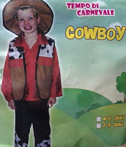 DUE ESSE CHRISTMAS SRL Carnevale Costume Bambino Cowboy Cow Boy Completo tg. 4/6 Anni