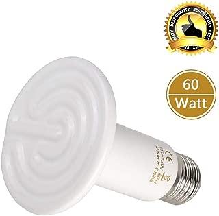 BOEESPAT Ceramic Heat Emitter 250W/100W/150W/60W Ceramic Heat Lamp Brooder Coop Pet Infrared Lamp Bulb