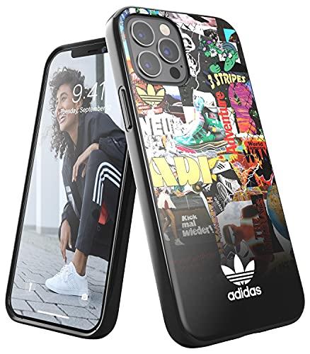 adidas EX7966 Custodia progettata per iPhone 12 / iPhone 12 Pro 6.1, custodia testata, bordi rialzati antiurto originale, grafica e multicolore