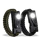 DAYFULI Paracord Survival Bracelet (2 Pack) The Ultimate Tactical Survival Gear...