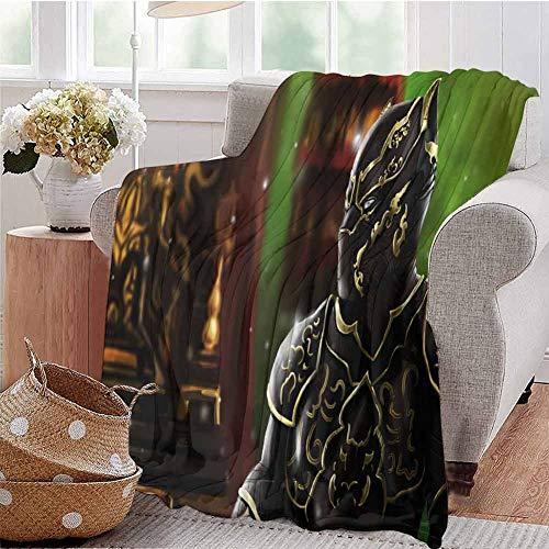 Housedecor - Morbide coperte Pantera Wakanda King Artwork V Confortevole e Calda coperta da spiaggia 65 x 50 cm