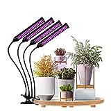 JLDNC Lámpara de Plantas, 40w Lámpara LED Cultivo con Función de Temporizador LED Grow Light 3 Modos y 10 Brillo Lámpara de Crecimiento Cuello de Cisne Flexible para plántulas,A