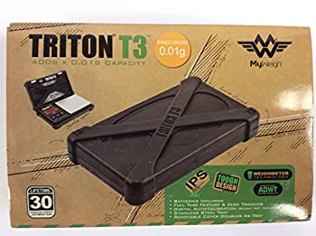 Triton T3 Digital Scale 400g X 0.01 Precision w/ Removable Stainless Tray and Lid impact Protection System  Silicone Drop Shock Resistant Non Slip Protective Case Magnetic Lock 30yr International Warranty