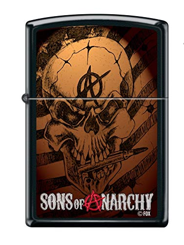Zippo Sons of Anarchy Feuerzeug, Messing, Design, 5,83,81,2