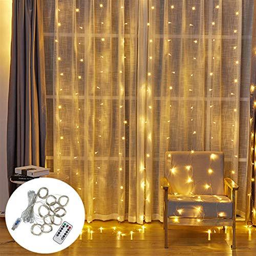 Neaer Lámpara, luces LED 3x2/3x3m led luces de Navidad luces de hadas guirnalda al aire libre hogar para decoraciones de Navidad para el hogar guirnalda cortina guirnalda led luces de hadas