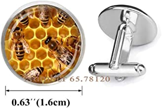Yijianxhzao Honey Bee Cufflinks,Bumble Bee Charm,Honey Bee Charm,Insect Cufflinks,Bridesmaid Gift,BV360