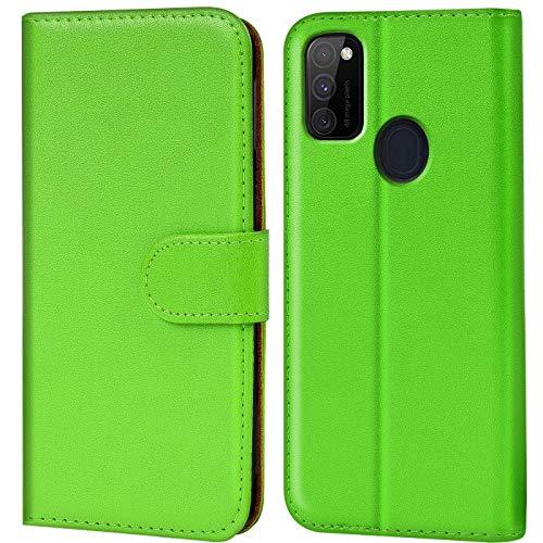 Verco Samsung M30s Hülle, Galaxy M21 Hülle Handyhülle für Samsung Galaxy M30s / M21 Tasche PU Leder Flip Hülle Brieftasche, Grün