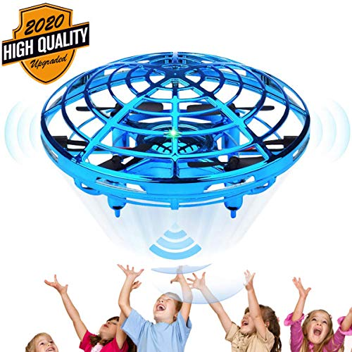 Hand Operated Drones for Kids or Adults - LONG FIT Hands Free Mini Drone Helicopter, Auto Hover Flying Ball with Obstacle Avoidance, Easy Indoor Small Orb UFO Drone Toys for Boys or Girls Best Gifts
