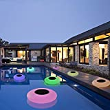 8. GEEDIAR Floating Pool Lights Solar Swimming Pool Light with 16 Color Changing Outdoor Decorations Light Waterproof LED Lights for Patio,Garden and Pool