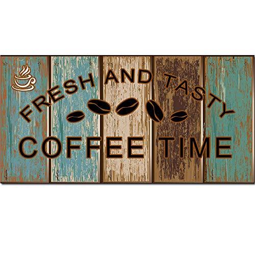 5562 Diseño retro fresco y sabroso letreros de madera arte de la pared   tablero de madera natural impresión cartel decoración de la pared para café/cocina/cafetera