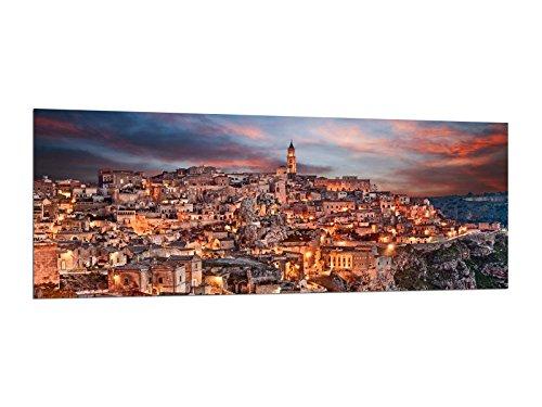 Glasbilder Wandbilder 125 x 50cm Bergdorf Italien AG312502456 / Deco Glass, Design & Handmade/Eyecatcher, Kunstdruck!