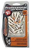 Pride Performance Professional Tee System Plastic Golf Tees (Pack of 30), 1 2-Inch