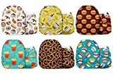 Mama Koala Unisex Baby Reusable Washable Pocket Cloth Diapers with 6 Microfiber Inserts-Pack of 6 (Yummy Fest)