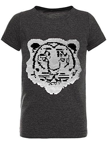 BEZLIT T-Shirt Jungen Wende-Pailletten Tieger Motiv 22719 Anthrazit Größe 164