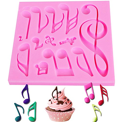 Musical Note Form DIY Kuchen dekorieren Fondant Silikon Zucker Craft Formen