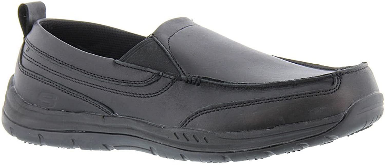 Skechers Work Relaxed Fit Otsego Dascus SR Mens Slip Resistant Loafers Black 13
