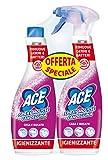 ACE SPRAY MOUSSE Candeggina con Ricarica, Igienizzante Casa e Bucato, Cartone da 5 Confezioni 2x750 ml
