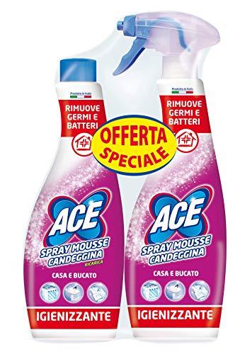 Ace Spray Mouse Candeggina con Ricarica, Cartone da 5 Confezioni 2 x 750 Millitri