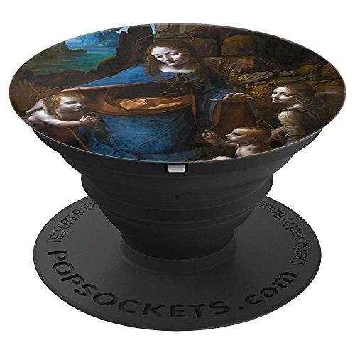 Leonardo Da Vinci Jungfrau von den Felsen Unsere Liebe Frau - PopSockets Ausziehbarer Sockel und Griff für Smartphones und Tablets