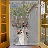 Orumrud Mosquitera Magnética para Puertas, 60x180cm Mosquitera Puerta Magnetica Cierre Automático Puertas Mosquitera Arañazos anti-gatos para Balcón, Puerta Sencilla Doble, Gris Cortina Mosquitera