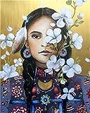 Yugipotu Foto por números Mamá amor obras de arte regalo para hija dibujo en lienzo kits de arte pintado a mano DIY pintura al óleo decoración del hogar 30X40CM