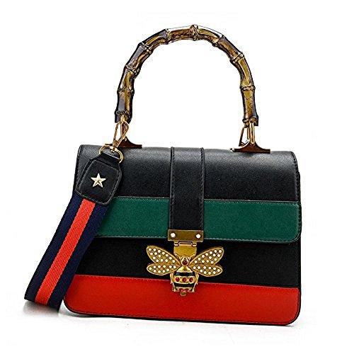 Uniqstore Women Lady's Bee Messenger Crossbody bag Handbag Shoulder Tote Bag Black