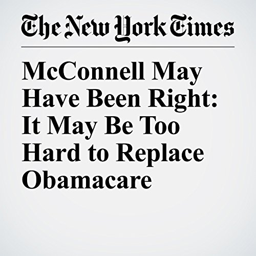 McConnell May Have Been Right: It May Be Too Hard to Replace Obamacare copertina
