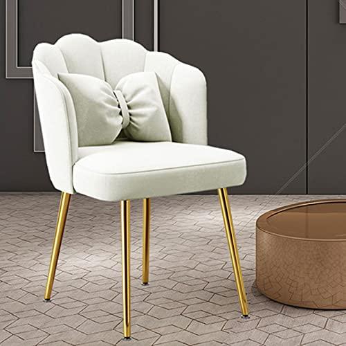 Silla Mariposa sillón Patas de Metal Silla de Terciopelo Silla de Escritorio Gris tocador Silla Noble hasta 150 kg