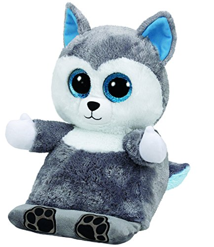 Carletto Ty 60000 60000-Scout, Husky, 32 cm, grau/eisblau