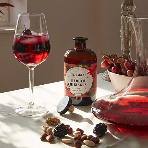 Dr. Jaglas Herber Hibiskus – San Aperitivo / alkoholfreier Gin / alkoholfreier Aperitif / ideal für alkoholfreie Cocktails & als alkoholfreie Spirituose / Herb-süßer Long Drink ohne Alkohol - 3