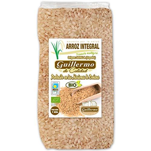 Guillermo Arroz Integral Redondo Ecológico BIO Marisma de Doñana para paellas y risottos 100% Natural 1 kilo