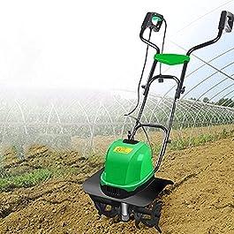 IOUYRRN 40cm (16in) cordé scarificateur et aérateur, Barre électrique/cultivateur, râteau de pelouse électrique et…