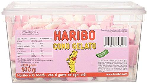 Haribo Caramelle Cono Gelato Barattolo, 200 Pezzi, 976g