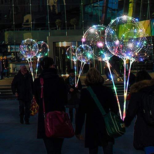 wanshop   LED BoBo Palloncino Trasparente Luce per Festa Compleanni Matrimoni Natale Decorazioni Vacanze Celebrazioni (Multicolor)