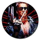 MasTazas Terminator Arnold Schwarzenegger Reloj de Pared Wal