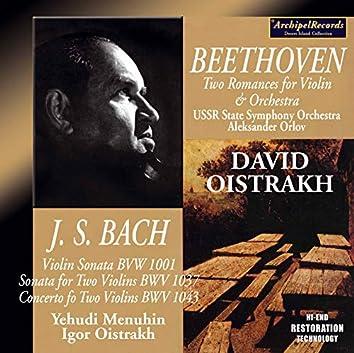 David Oistrakh Bach and Beethoven Recordings