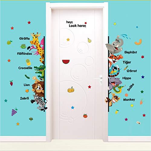 Zfkdsd Kinder Puzzle Tier Englisch Wandaufkleber Für Kinderzimmer Kinderzimmer Schlafzimmer Decals Wohnkultur 3D Selbstklebefolie