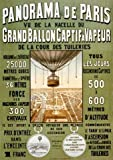 View of Paris From a Hot Air Balloon France French Europe 12' X 16' Image Size Vintage Advertising Poster Reproduction