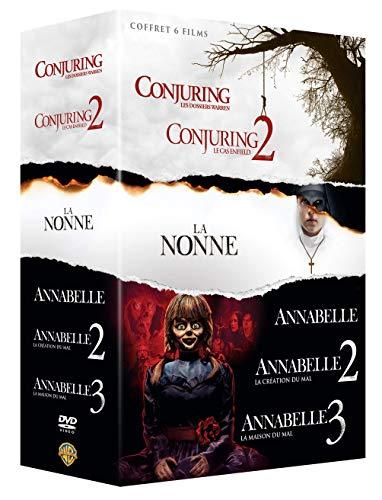 Coffret 6 films : Conjuring : les dossiers Warren + Conjuring 2 : le cas Enfield + Annabelle + Annabelle 2 : la création du mal + Annabelle : la maison du mal + La Nonne [Francia] [DVD]
