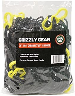 Grizzly Gear Large Cargo net with 16 Durable Nylon Hooks- 36